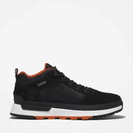Timberland Cable Knitted Scarf For Men In Black Black, Size ONE