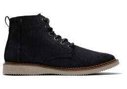 TOMS Black Waxy Suede Men's Porter Boots - Size UK9.5