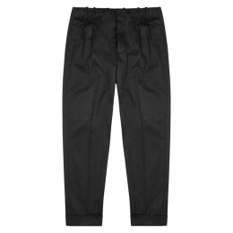 Paul Smith Black Tapered Stretch-wool Trousers