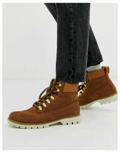 Caterpillar lexicon leather hiker boot in brown