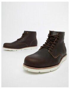 Levi's jax high leather boot in dark brown