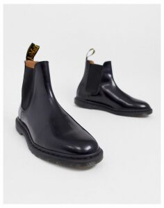Dr Martens Graeme chelsea boots in black polished smooth