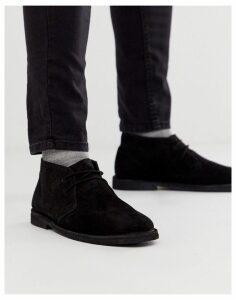 ASOS DESIGN desert boots in black suede