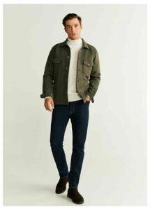 Pockets stretch cotton jacket