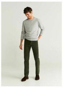 Corduroy denim-style trousers