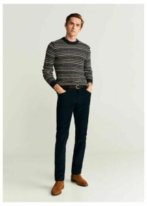 Corduroy denim-style trousers