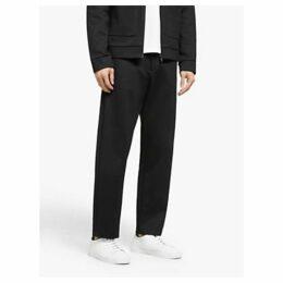 Kin Twill Jersey Trousers, Black