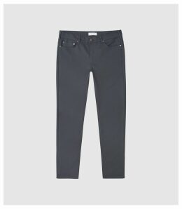Reiss Canterbury - Five Pocket Slim Fit Trousers in Slate, Mens, Size 38