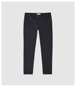 Reiss Canterbury - Five Pocket Slim Fit Trousers in Navy, Mens, Size 38
