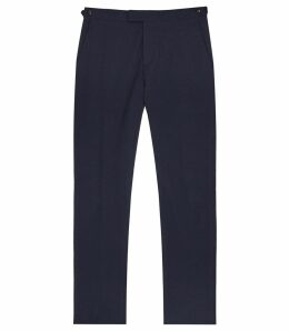 Reiss Borgo T - Slim Fit Trousers in Navy, Mens, Size 38
