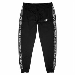 Daily Paper Black Logo-print Stretch-jersey Sweatpants