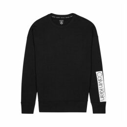 Calvin Klein Black Logo-appliquéd Cotton Sweatshirt