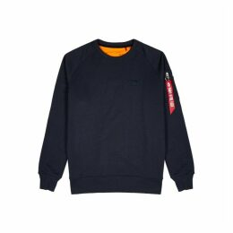 Alpha Industries X-Fit Navy Cotton-blend Sweatshirt