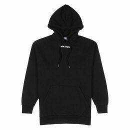 Palm Angels Black Logo Cotton Sweatshirt