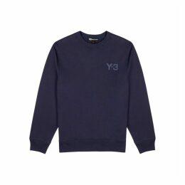 Y-3 Navy Designer-stamped Cotton Sweatshirt