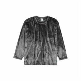 South2 West8 Grey Relaxed Fleece Sweatshirt