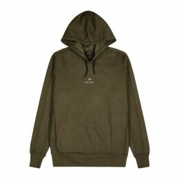 PS By Paul Smith Dark Olive Hooded Cotton Sweatshirt