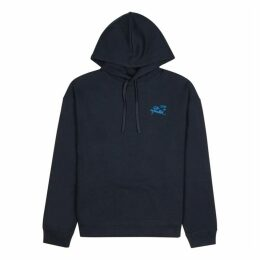Raf Simons Navy Hooded Cotton Sweatshirt