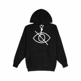 Palm Angels Sensitive Content Black Cotton-jersey Sweatshirt