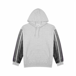 Noma T.D Grey Hooded Jersey Sweatshirt