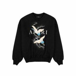 Amiri Crane Printed Cotton Sweatshirt