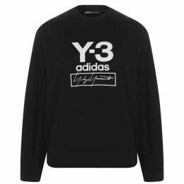 Y3 Stack Logo Crew Sweatshirt