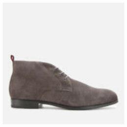 HUGO Men's Boheme Faux Fur Lined Suede Desert Boots - Grey
