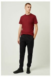 Machine Stretch Zip Detail Trousers - black
