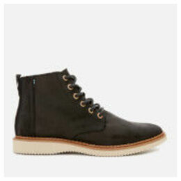 TOMS Men's Porter Leather Lace Up Boots - Black - UK 11