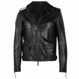 Giuseppe Zanotti Croc Leather Jacket