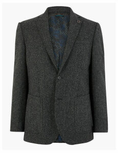 M&S Collection Luxury Pure Wool Textured Jacket