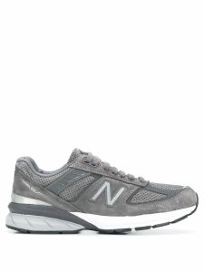 New Balance logo embroidered sneakers - Grey