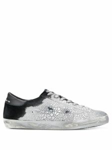 Golden Goose cracked effect sneakers - Silver