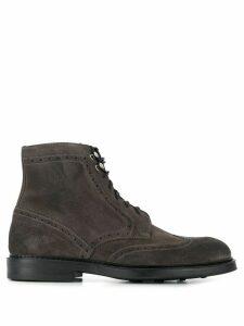 Doucal's brogue boots - Grey