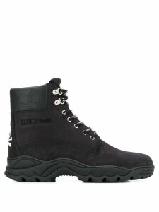 Philipp Plein construction boots - Black
