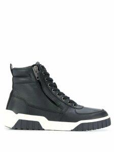 Diesel panelled hi-top sneakers - Black