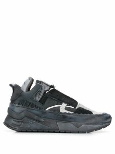 Diesel elastic band running sneakers - Black