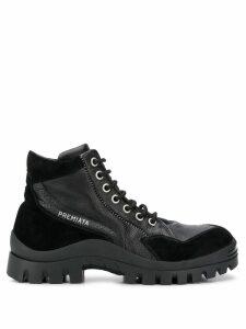 Premiata lace-up trek boots - Black