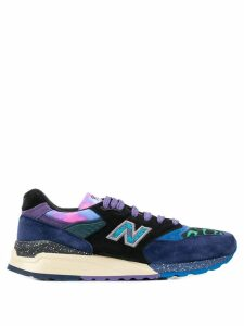 New Balance swirl pattern detail sneakers - Blue