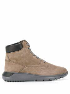 Hogan lace up ankle boots - Neutrals