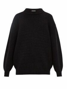 Raey - Slip Stitch Wool Blend Sweater - Mens - Black