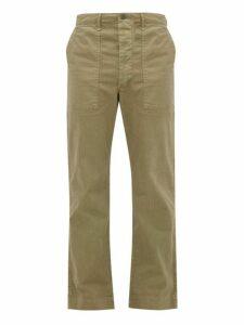 Rrl - Straight Leg Herringbone Cotton Trousers - Mens - Khaki