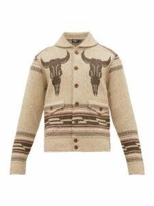 Rrl - Shawl Collar Western Jacquard Jacket - Mens - Brown Multi