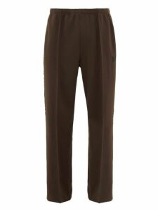 Needles - Logo Embroidered Velvet Trimmed Track Pants - Mens - Brown