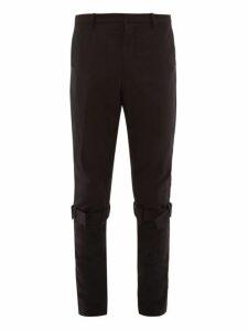 Paul Smith - Knee Strap Technical Nylon Trousers - Mens - Black