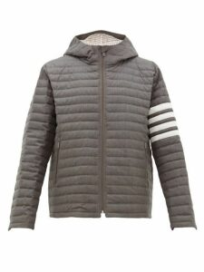 Thom Browne - Quilted Wool Twill Jacket - Mens - Grey