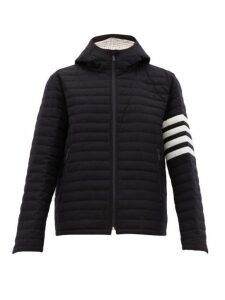 Thom Browne - Quilted Wool Twill Jacket - Mens - Navy