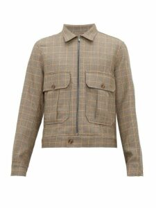 King & Tuckfield - Safari Pocket Checked Wool Blend Jacket - Mens - Multi
