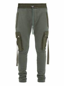Amiri - Canvas Trimmed Track Pants - Mens - Green