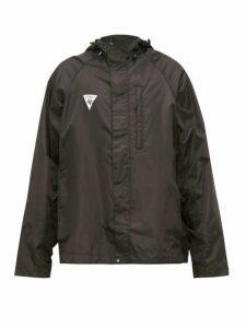 Vetements - Logo Patch Hooded Technical Jacket - Mens - Black